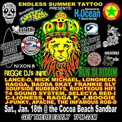 2014 dub massive at sandbar sports grill cocoa beach for Endless summer tattoo