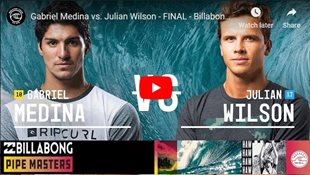 Gabriel Medina vs. Julian Wilson - FINAL - Billabong Pipe Masters 2018