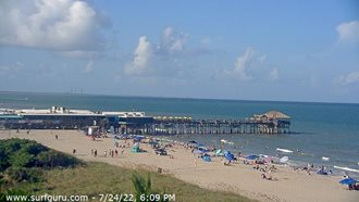 View Cocoa Beach Pier Surf Cam