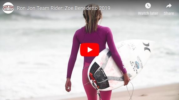 Ron Jon Team Rider: Zoe Benedetto 2019