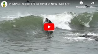 PUMPING SECRET SURF SPOT in NEW ENGLAND