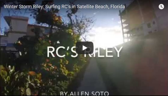 Winter Storm Riley - Surfing RC's in Satellite Beach, Florida