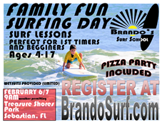Brando's Surf School Family Fun Surfing Day