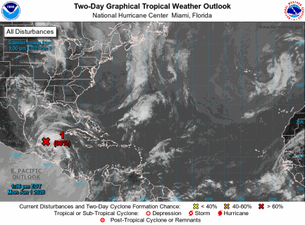 Possible 3rd named storm of the year brewing in the Gulf.