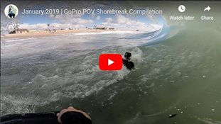January 2019 | GoPro POV Shorebreak Compilation