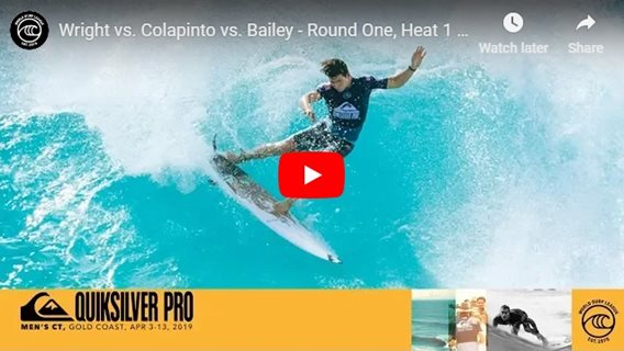 Wright vs. Colapinto vs. Bailey - Round One, Heat 1 - Quiksilver Pro Gold Coast 2019