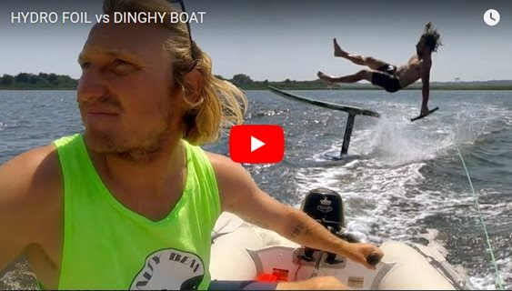 HYDRO FOIL vs DINGHY BOAT