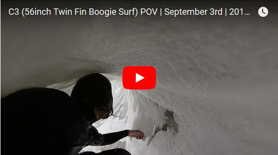 C3 (56inch Twin Fin Boogie Surf) POV | September 3rd | 2018 (RAW)