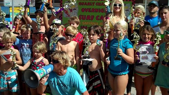 July Gnarly Charley Grom Surf Contest at Spessard Holland Beach Park