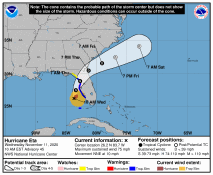 Hurricane ETA to make landfall on the Gulf Coast